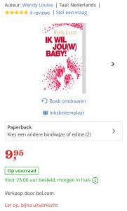 bestseller, Ik wil jouw baby, wendy louise
